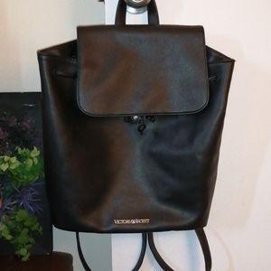 Victoria secret faux leather back pack